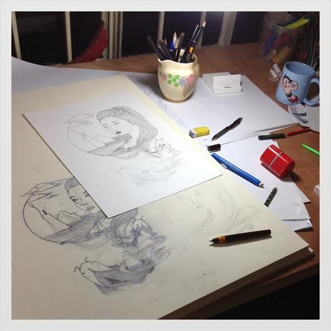 sheila albarado bocetos pez